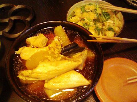 ブリ大根と水菜の煮びたし